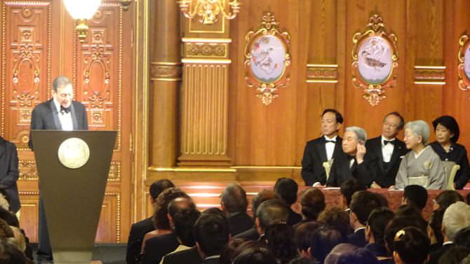 特別開館の事例のご紹介。迎賓館赤坂離宮の本館で天皇皇后両陛下の御臨席の下、実施された「2017年プリツカー建築賞授賞式典」の写真。