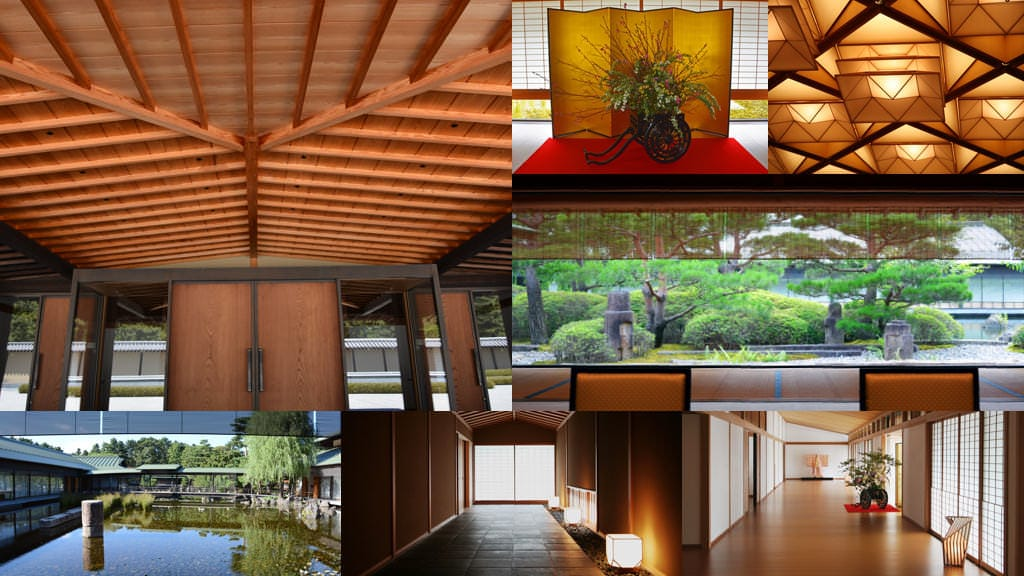 A collage photo of the various sights of the Kyoto State Guest House