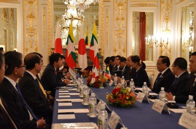Japan-Myanmar Summit Meeting in Sairan no Ma.