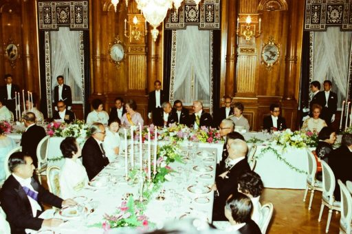 Dinner Banquet hosted by President and Senhora Geisel in Kacho no Ma