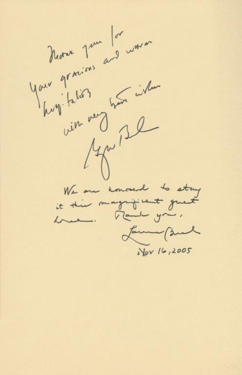 ジョージ・W・ブッシュ大統領閣下及び同令夫人