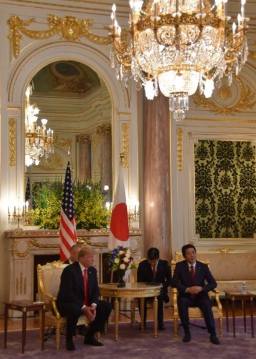 Japan-U.S. Summit Meeting in Asahi no Ma.