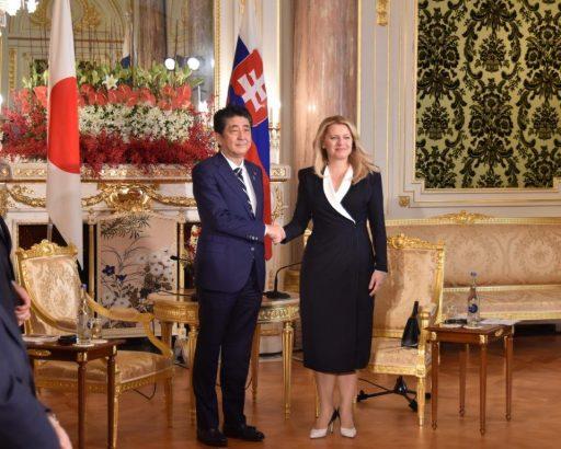 Prime Minister Abe meets with H.E. Ms. Zuzana ČAPUTOVÁ, President of the Slovak Republic.
