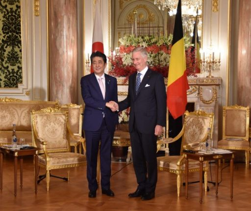 Prime Minister Abe meets with H.M. King PHILIPPE, King of the Belgians.