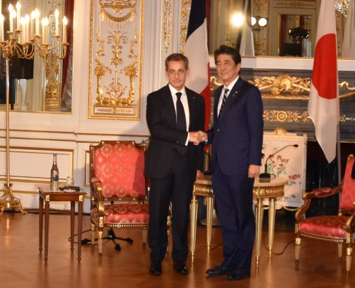 Prime Minister Abe meets with H.E. Mr. Nicolas SARKOZY, Former President of the French Republic.