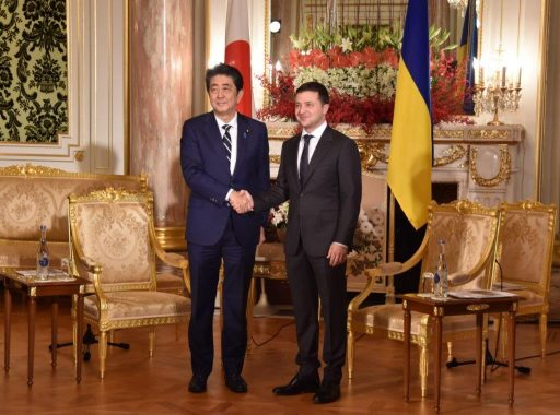 Prime Minister Abe meets with H.E. Mr. Volodymyr Oleksandrovych ZELENSKY, President of Ukraine.