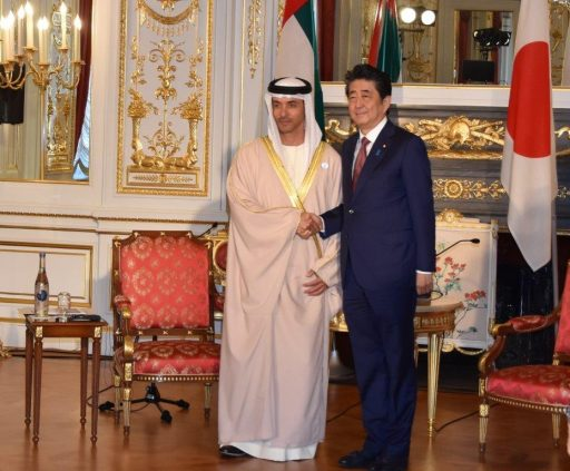 Prime Minister Abe meets with H.H. Sheikh. HAZZA bin Zayed Al Hahyan, Deputy Chairman, Abu Dhabi Executive Council.