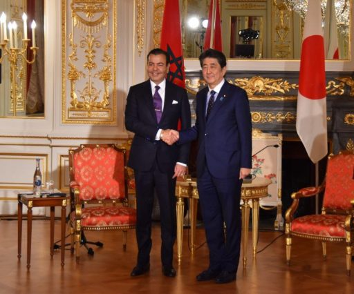 Prime Minister Abe meets with H.R.H. Prince Moulay Rachid, Kingdom of Morocco.
