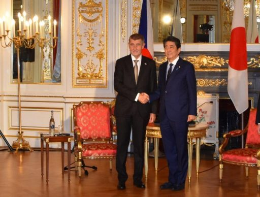 Prime Minister Abe meets with H.E. Mr. Andrej BABIS, Prime Minister of the Czech Republic.