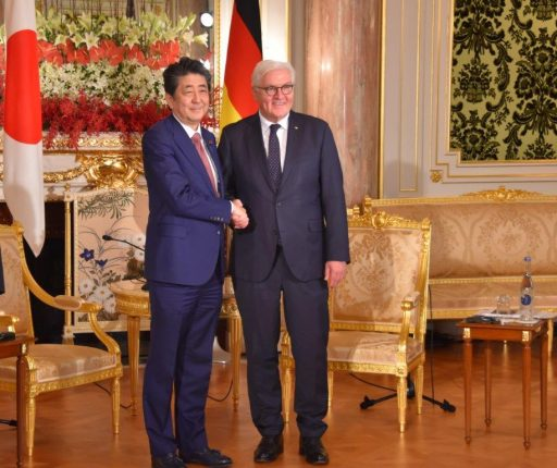 Prime Minister Abe meets with H.E. Dr. Frank-Walter STEINMEIER, President of the Federal Republic of Germany.