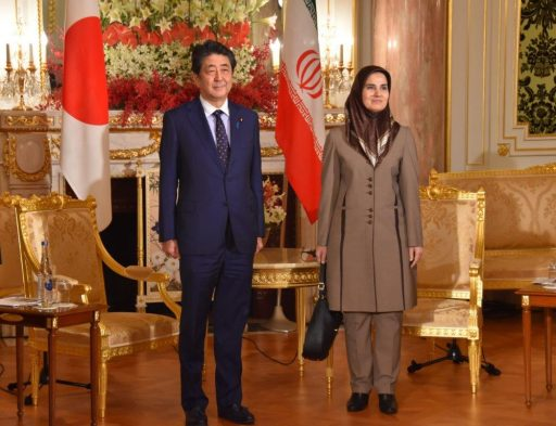 Prime Minister Abe Receives a courtesy call by H.E. Dr. Laaya JONEIDI, Vice President for legal affairs of the Islamic Republic of Iran.