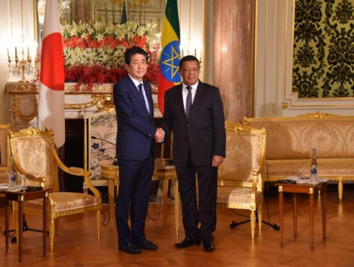 Prime Minister Abe meets with H.E. Dr. Mulatu Teshome Wirtu, Former President Federal Democratic Republic of Ethiopia.